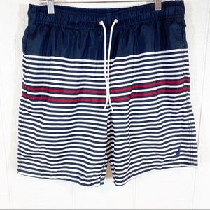 Mens Nautica Swim Shorts Trunks Stripes Large